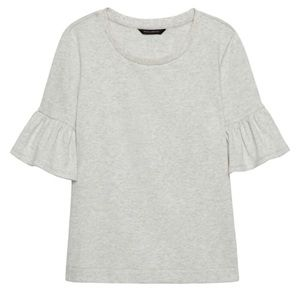 Banana Republic French Terry Flutter-Sleeve top